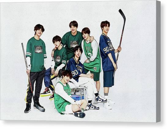Suga Canvas Print - Bts Hockey by Boomba Stick