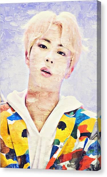 Suga Canvas Print - Bts Jimin Portrait Painting by Boomba Stick