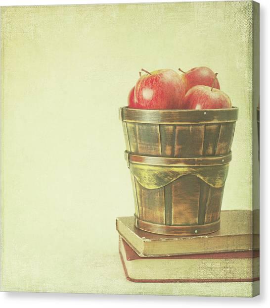 Bucket Full Of Apples Canvas Print