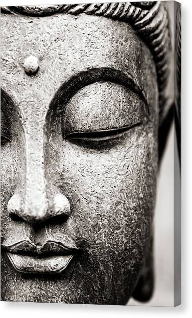 Buddha Face Canvas Print by Maodesign