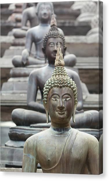 Buddha Statues, Colombo, Sri Lanka Canvas Print
