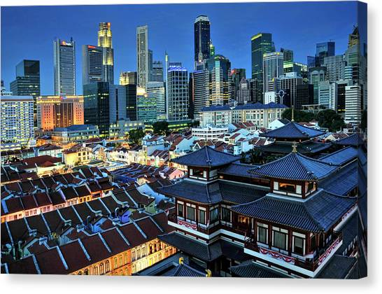 Chinese New Year Canvas Print - Buddha Tooth Relic Temple In Chinatown by Photo By William Cho