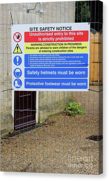 Canvas Print - Building Site Sign by Tom Gowanlock