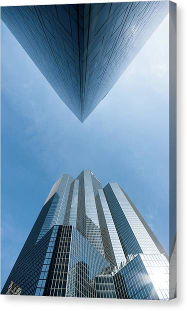 Buildings Face To Face Canvas Print by © Philippe Lejeanvre