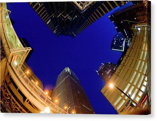 Buildings, Low Angle View Canvas Print by By Ken Ilio