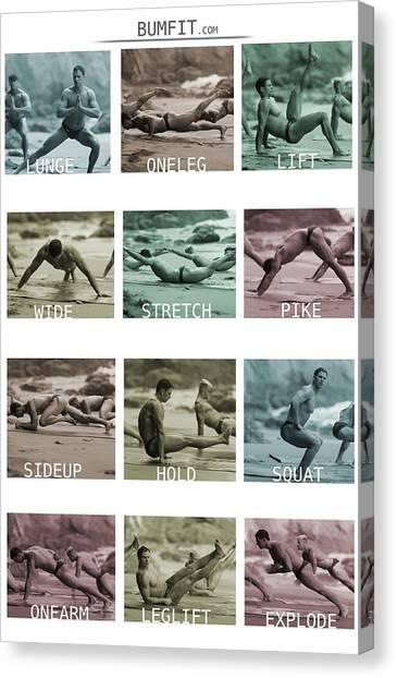 Bum Fit Beach Workout  Canvas Print
