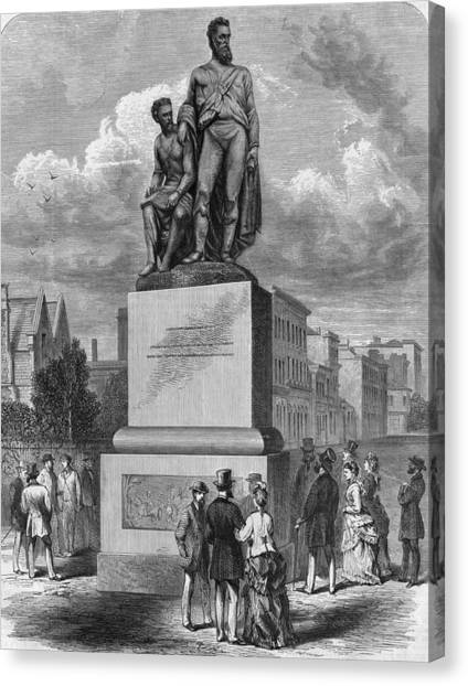 Burke And Wills Statue Canvas Print by Hulton Archive