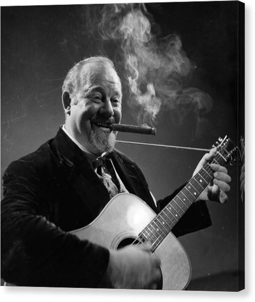 Burl Ives Canvas Print by Baron
