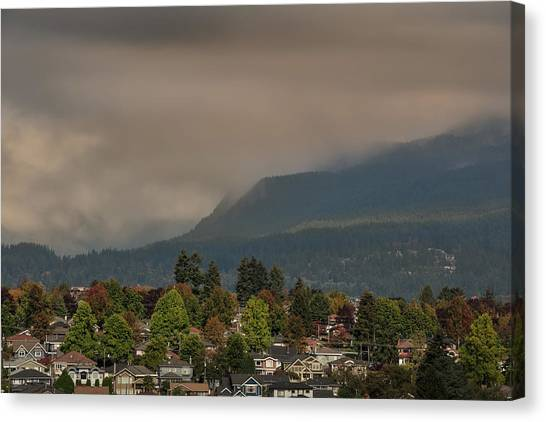 Canvas Print featuring the photograph Burnaby Mountain by Juan Contreras
