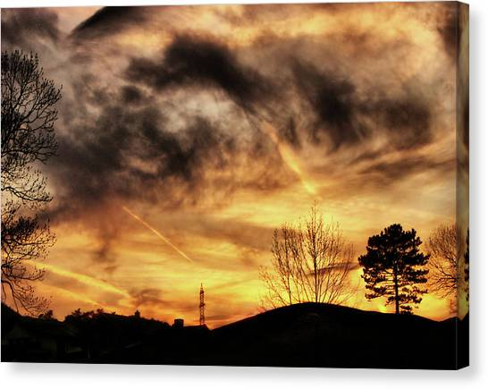Burning Clouds Canvas Print