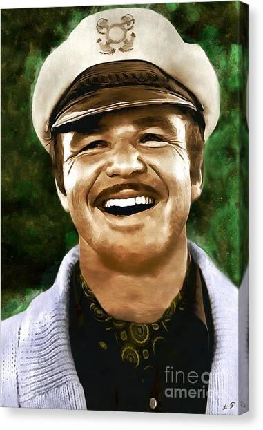 Burt Reynolds Canvas Print - Burt Reynolds Collection - 1 by Sergey Lukashin
