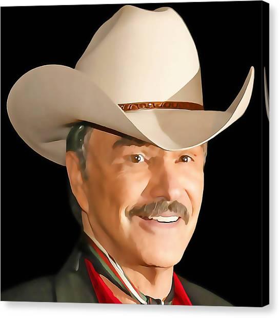 Burt Reynolds Canvas Print - Burt Reynolds by Marvin Blaine