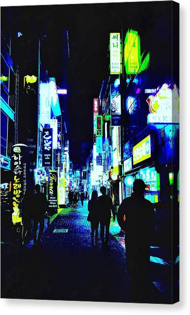 Bladerunner Canvas Print - Busan Nights by Duygu Cinar