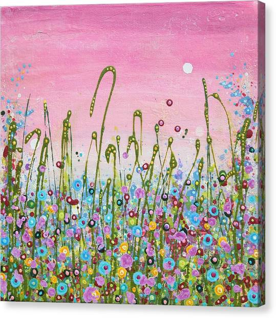 Buttercups And Lilacs Canvas Print