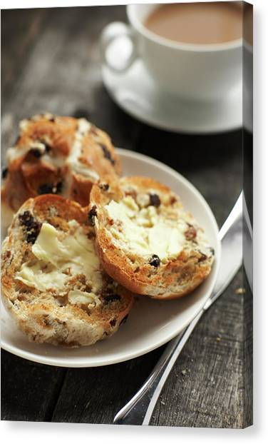 Buns Canvas Print - Buttered Hot Cross Buns by Phil Ashley
