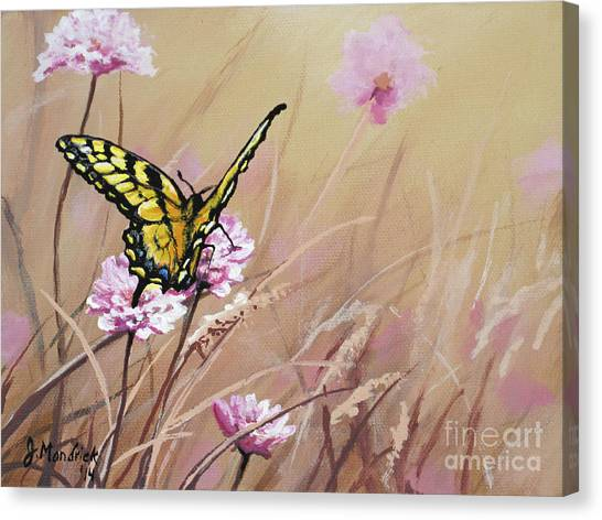 Butterfly Meadow - Part 1 Canvas Print