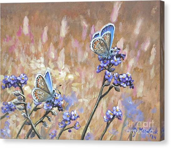 Butterfly Meadow - Part 3 Canvas Print