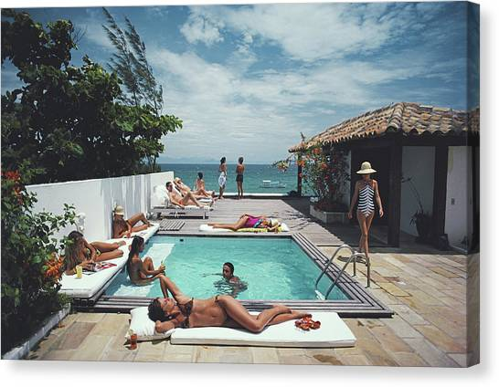 Buzios Canvas Print by Slim Aarons