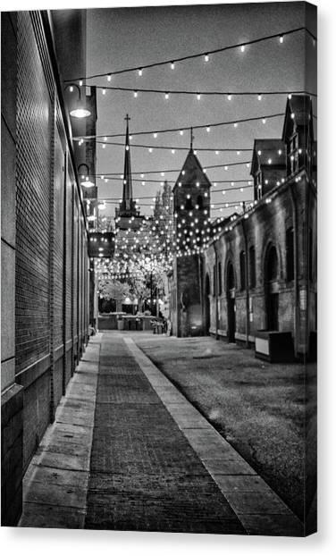 Bw City Lights Canvas Print
