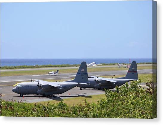 C130h At Rest Canvas Print