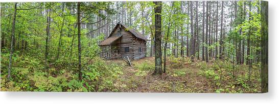 Canvas Print featuring the photograph Cabin In The Forest by Pierre Leclerc Photography