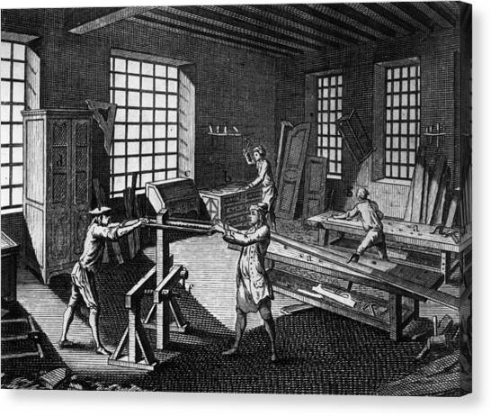 Drawers Canvas Print - Cabinet Makers by Hulton Archive