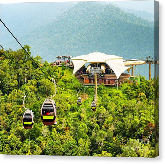 Cable Car On Langkawi Island, Malaysia Canvas Print by Efired
