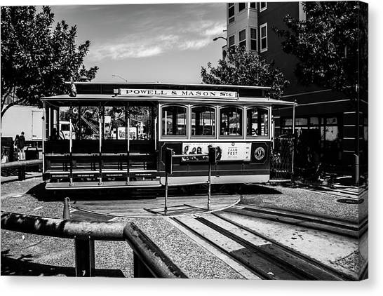 Cable Car Turn Around Canvas Print