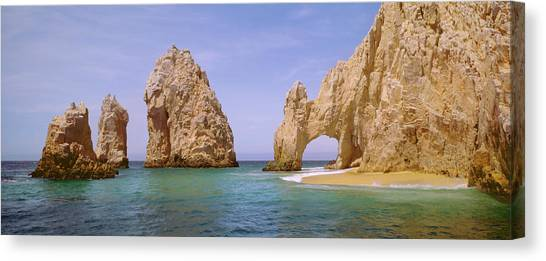 Baja California Canvas Print - Cabo San Lucas And Lands  End Arch by Harald Sund