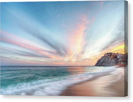 Canvas Print featuring the photograph Cabo San Lucas Beach Sunset Mexico by Nathan Bush