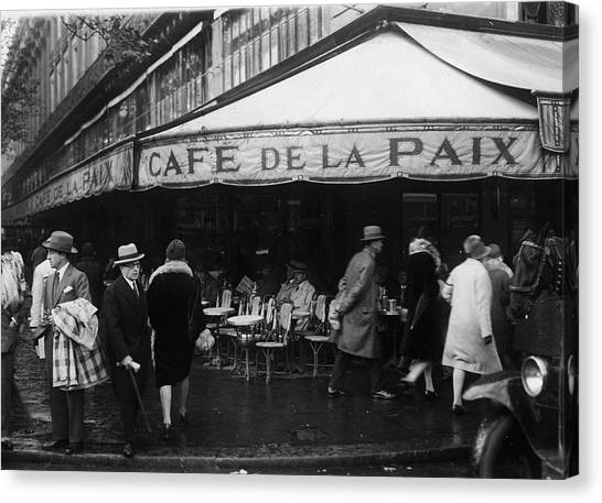 Cafe De La Paix Canvas Print