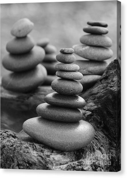 Canvas Print featuring the photograph Cairn Gathering by Jeni Gray