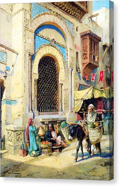 Binders Canvas Print - Cairo 1868 by Munir Alawi
