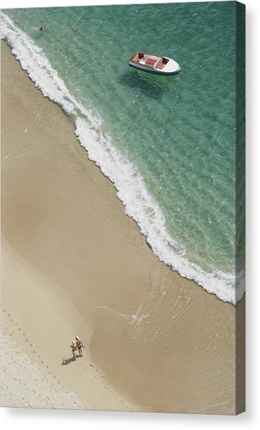 Caleta Beach, Acapulco Canvas Print by Slim Aarons