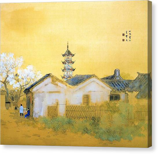 China Town Canvas Print - Calm Spring In Jiangnan - Digital Remastered Edition by Takeuchi Seiho