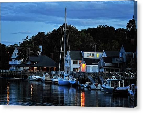 Camden Maine Twightlight Canvas Print