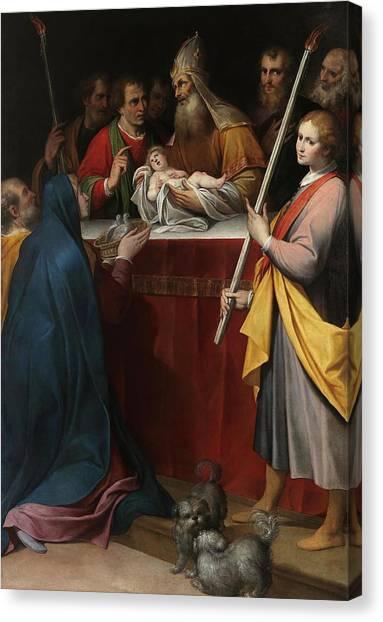 Procaccini Canvas Print - Camillo Procaccini / 'the Presentation Of Jesus At The Temple', 17th Century, Italian School. by Camillo Procaccini -c 1551-1629-