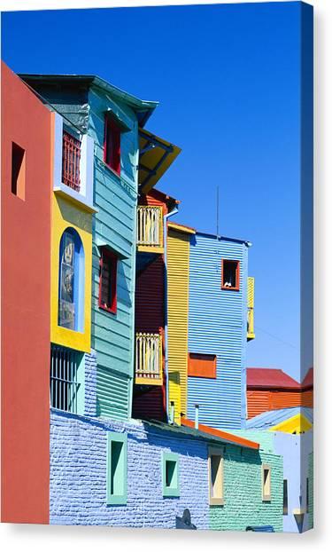 Caminitas La Boca District, Buenos Canvas Print by Brand X Pictures