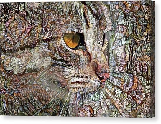 Camo Cat Canvas Print