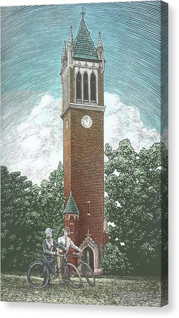 Canvas Print featuring the drawing Campanile 1928 by Clint Hansen