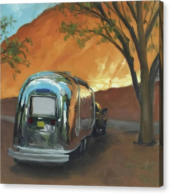 Camping At The Red Rocks Canvas Print