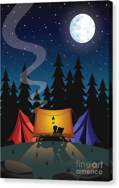 Camping Canvas Print by Nikola Knezevic