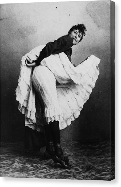 Can-can Dancer Canvas Print by Hulton Archive