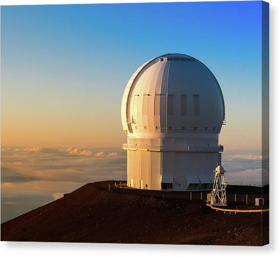 Canvas Print featuring the photograph Canada-france-hawaii Telescope by William Dickman