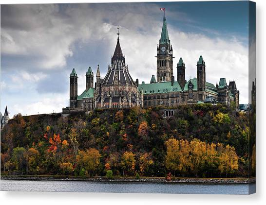 Parliament Hill Canvas Print - Canadian Parliament Buildings by Trevor Johnston / Eye Meets World Photography