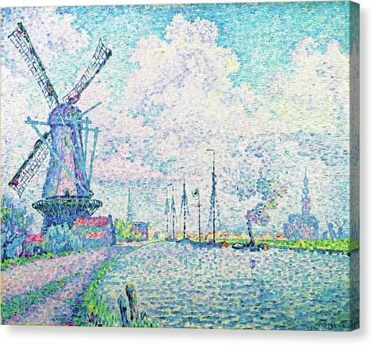 Signac Canvas Print - Canal Of Overschie - Digital Remastered Edition by Paul Signac