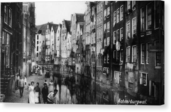 Canalside Houses Canvas Print by Hulton Archive
