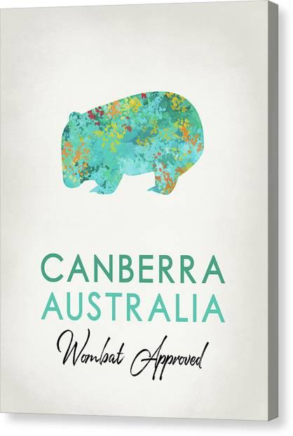 Canberra Canvas Print - Canberra Australia Wombat by Flo Karp