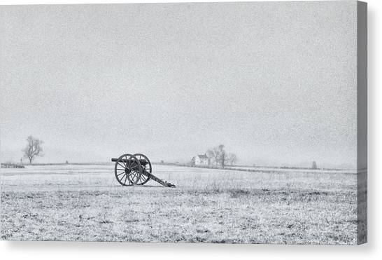 Cannon Out In The Field Canvas Print