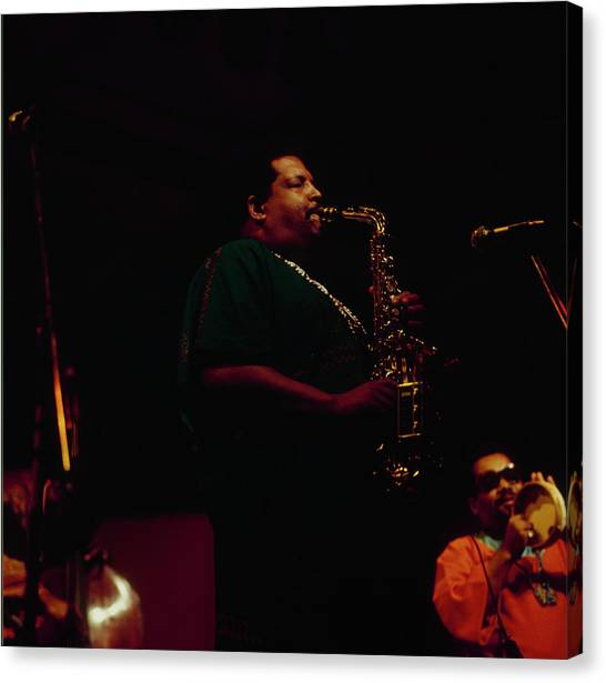 Cannonball Adderley Performs At Newport Canvas Print by David Redfern